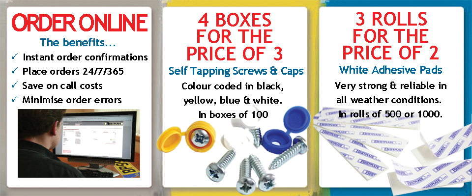 Number Plate Screws & Adhesive Pads Promotion